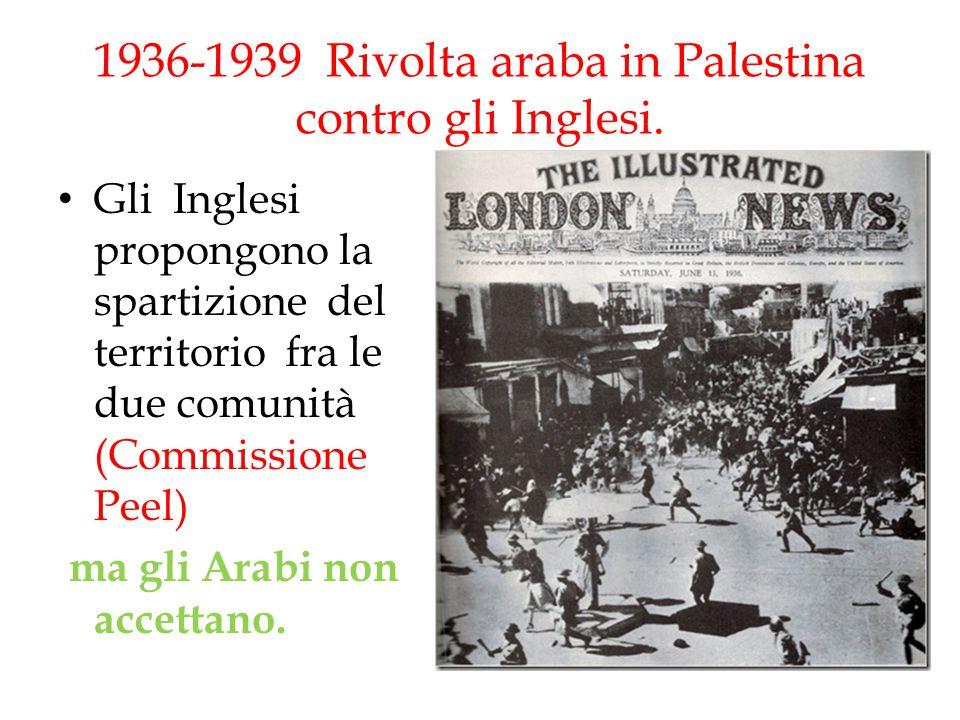 1936-1939 Rivolta araba in Palestina contro gli Inglesi.