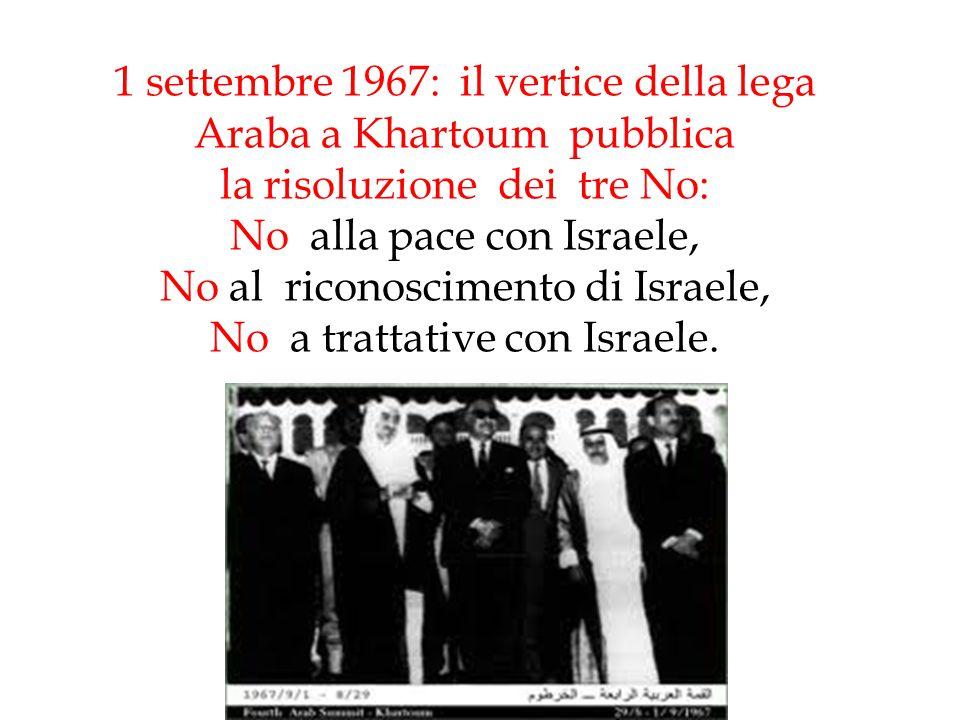 1 settembre 1967: il vertice della lega Araba a Khartoum pubblica