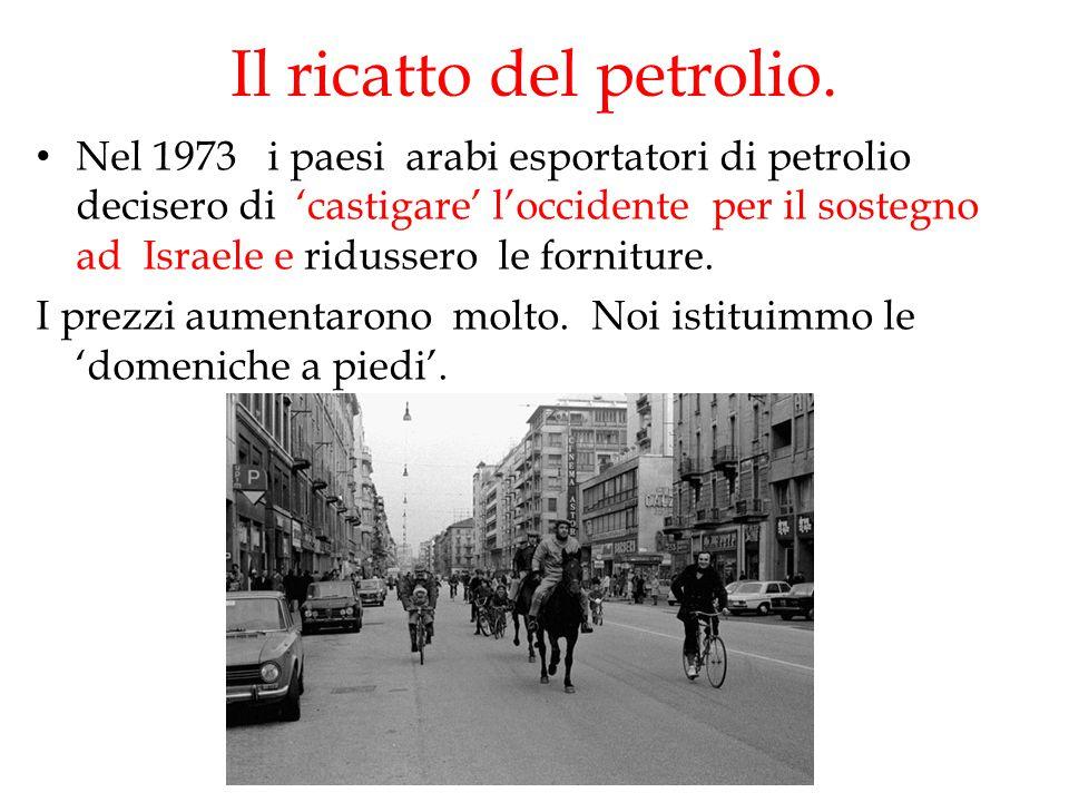 Il ricatto del petrolio.