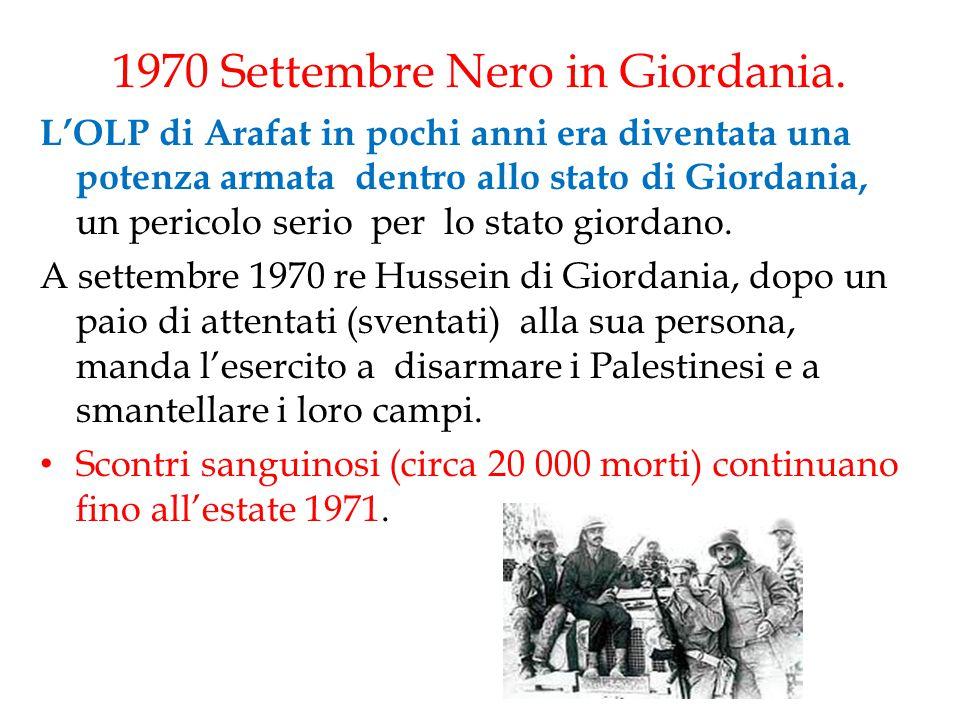 1970 Settembre Nero in Giordania.