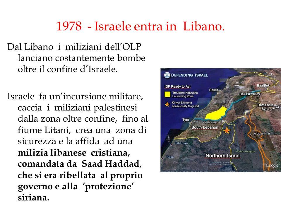 1978 - Israele entra in Libano.