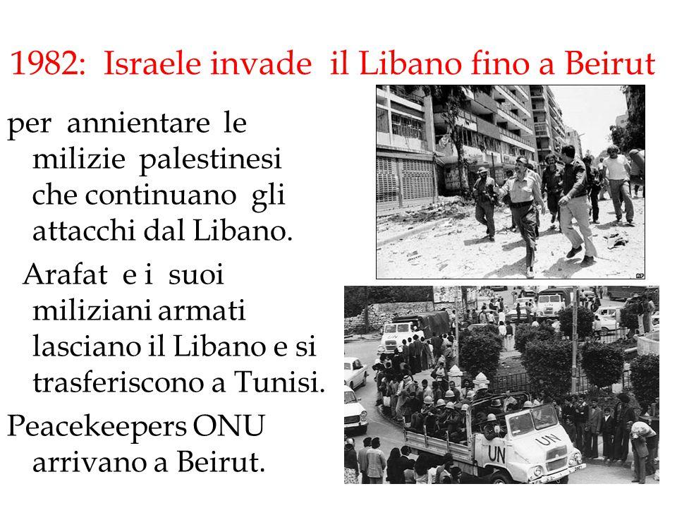 1982: Israele invade il Libano fino a Beirut