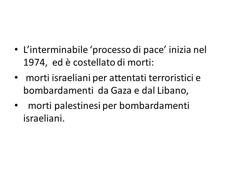 L'interminabile 'processo di pace' inizia nel 1974, ed è costellato di morti: