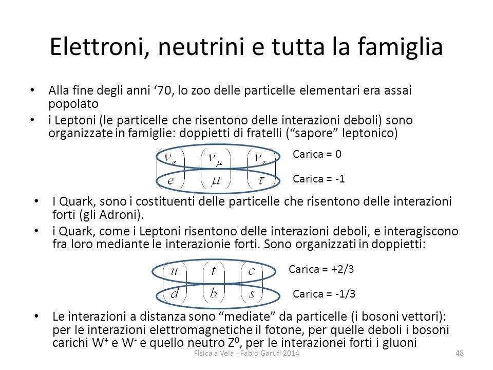 Elettroni, neutrini e tutta la famiglia