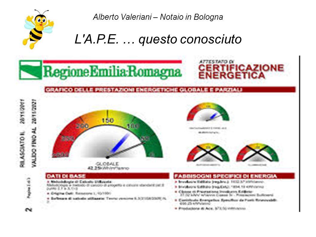 Alberto Valeriani – Notaio in Bologna L A.P.E. … questo conosciuto