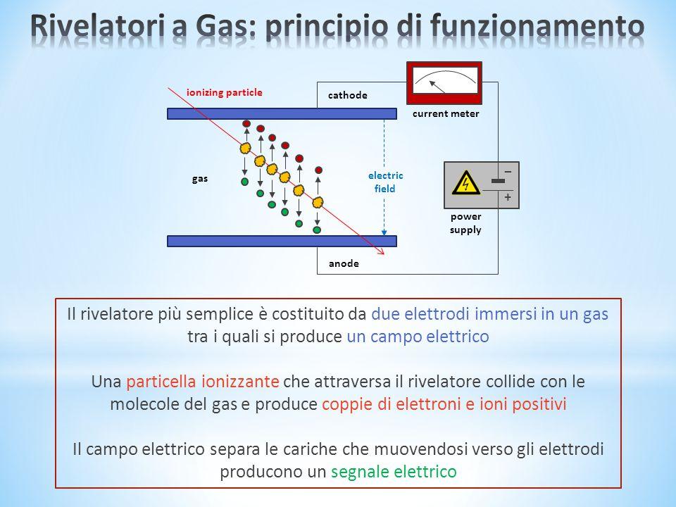 Rivelatori a Gas: principio di funzionamento