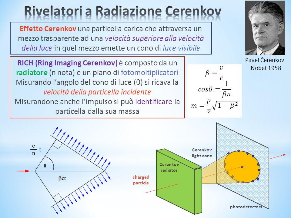 Rivelatori a Radiazione Cerenkov