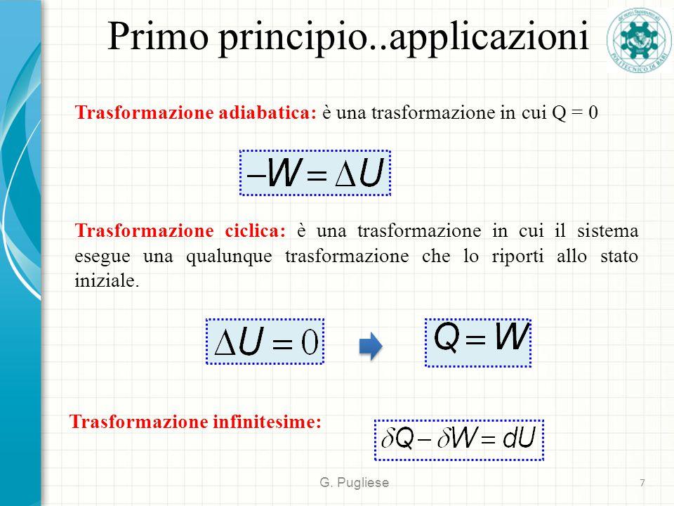 Primo principio..applicazioni
