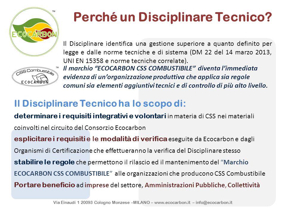 Perché un Disciplinare Tecnico