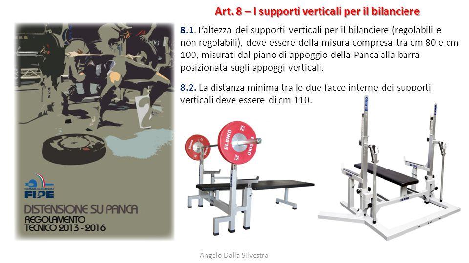 Art. 8 – I supporti verticali per il bilanciere