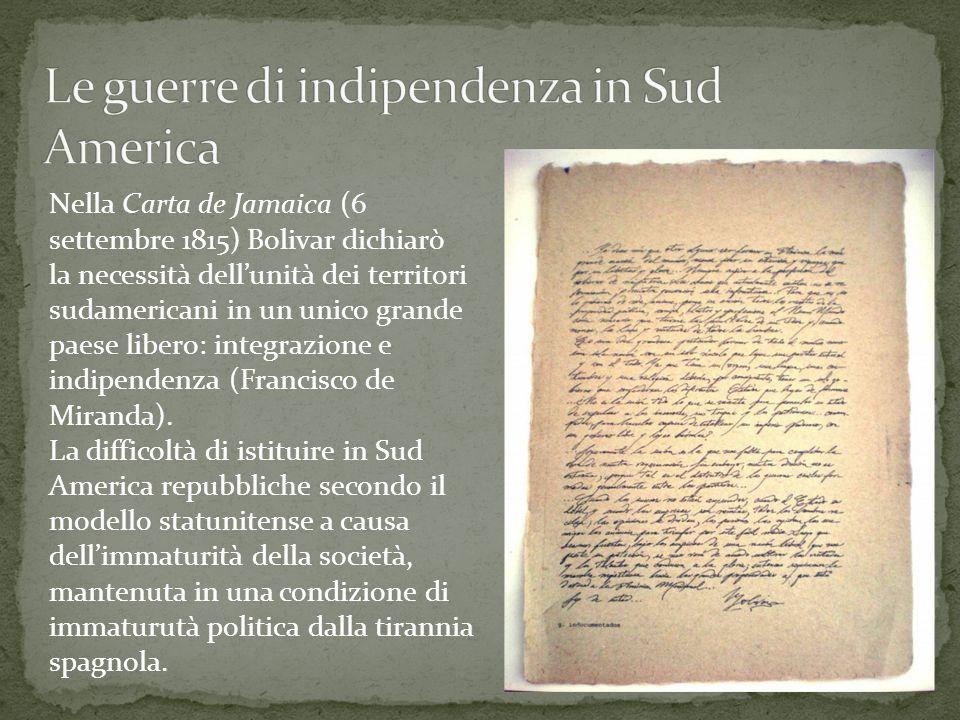 Le guerre di indipendenza in Sud America