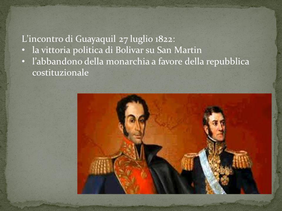 L'incontro di Guayaquil 27 luglio 1822: