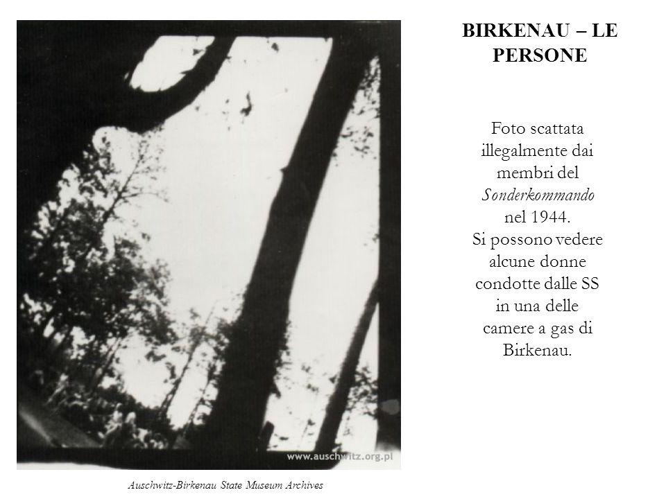 BIRKENAU – LE PERSONE Foto scattata illegalmente dai membri del Sonderkommando nel 1944.