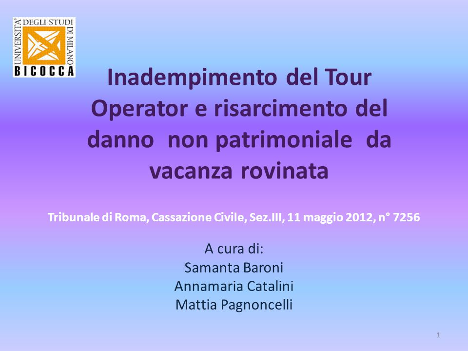 Tribunale di Roma, Cassazione Civile, Sez.III, 11 maggio 2012, n° 7256
