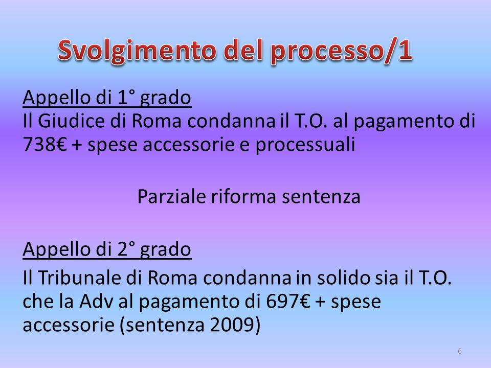 Svolgimento del processo/1