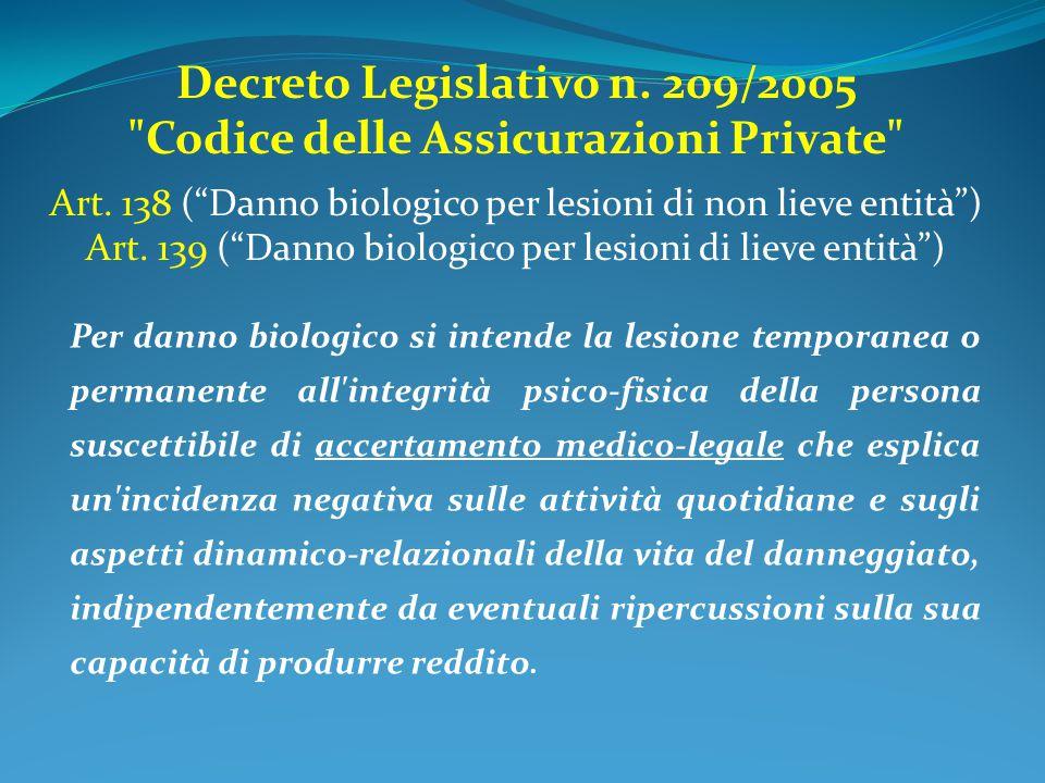 Decreto Legislativo n. 209/2005