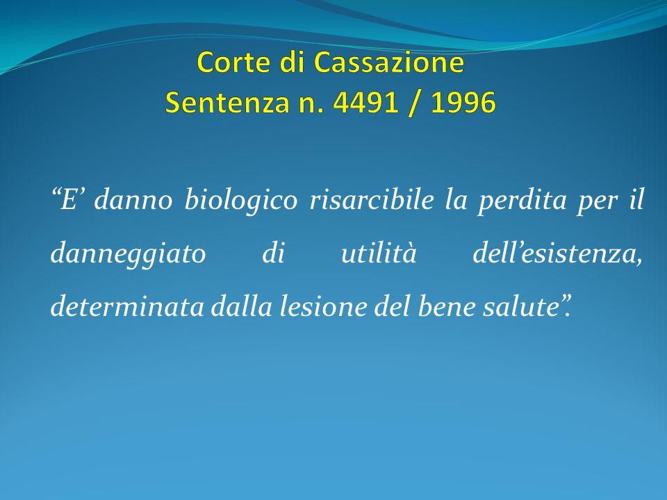 Corte di Cassazione Sentenza n. 4491 / 1996