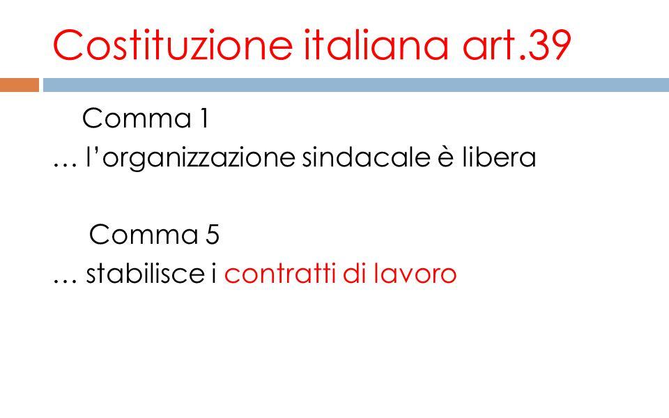 Costituzione italiana art.39