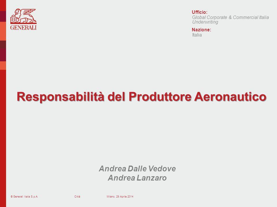 Responsabilità del Produttore Aeronautico