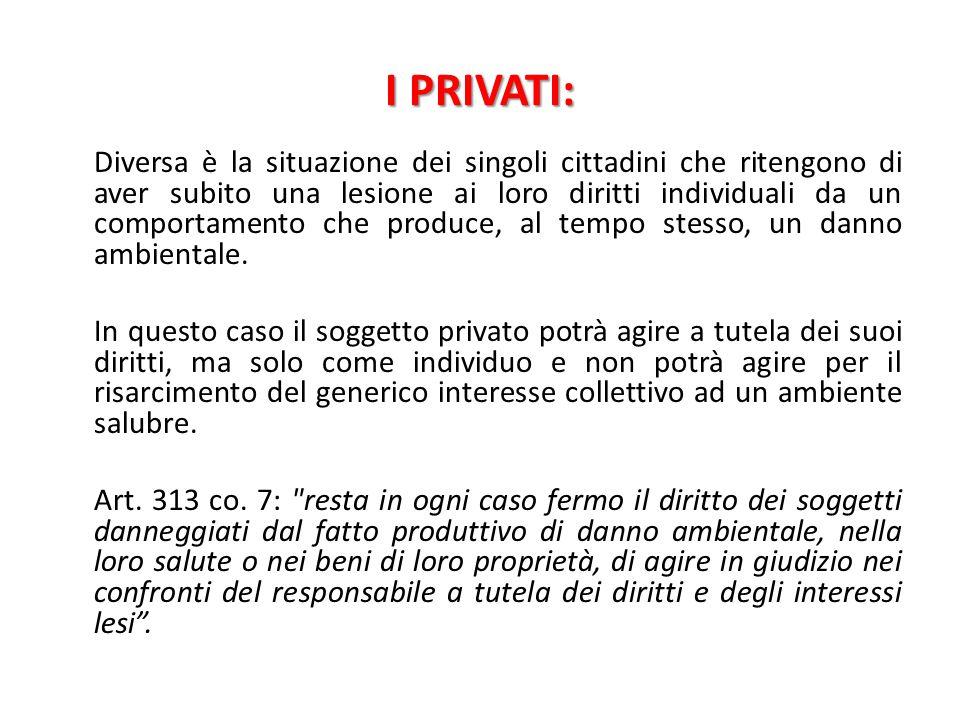I PRIVATI: