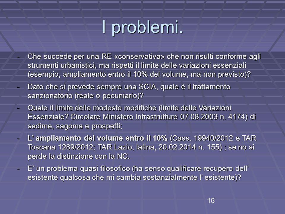 I problemi.