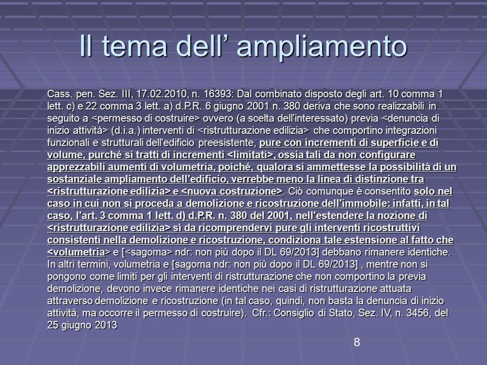 Il tema dell' ampliamento
