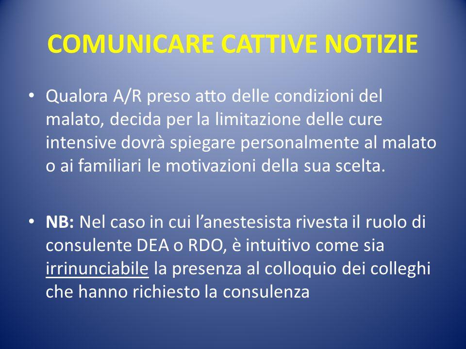 COMUNICARE CATTIVE NOTIZIE