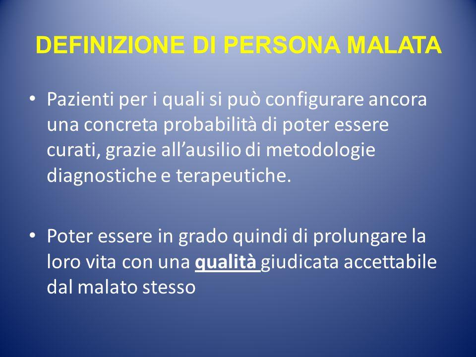 DEFINIZIONE DI PERSONA MALATA