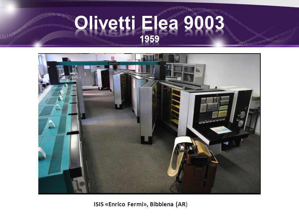 Olivetti Elea 9003 1959 ISIS «Enrico Fermi», Bibbiena (AR)