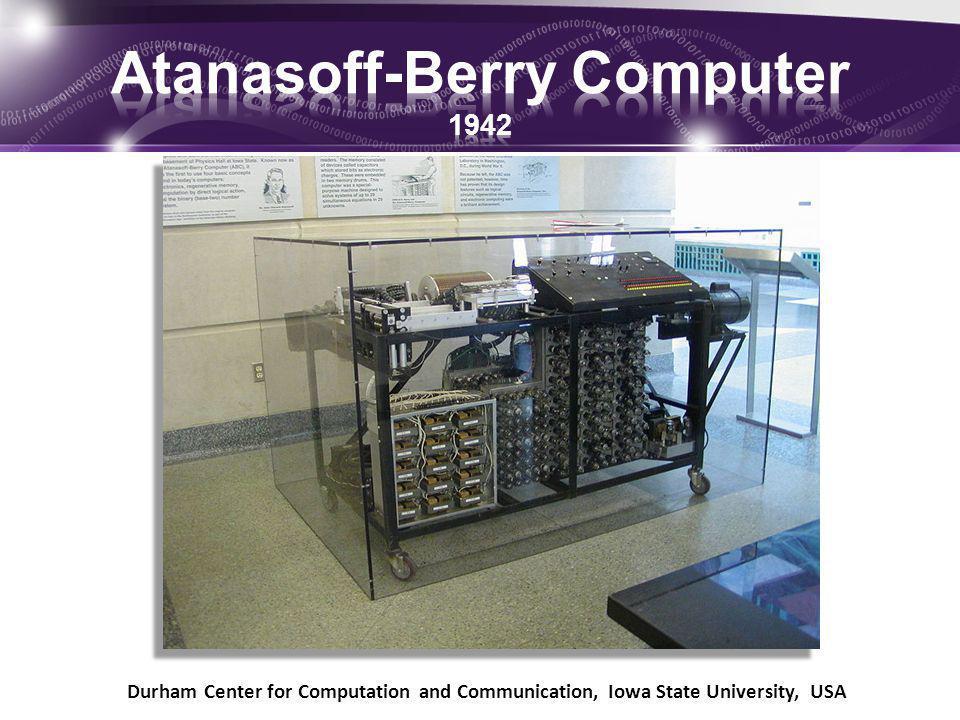 Atanasoff-Berry Computer 1942