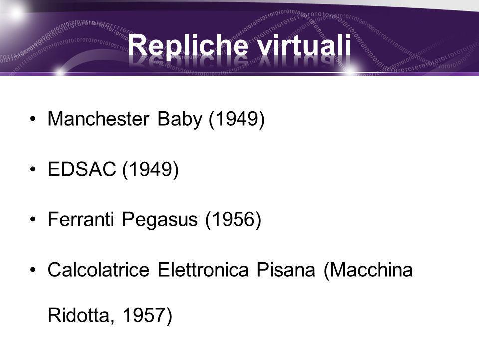 Repliche virtuali Manchester Baby (1949) EDSAC (1949)