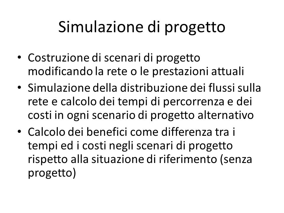 Simulazione di progetto