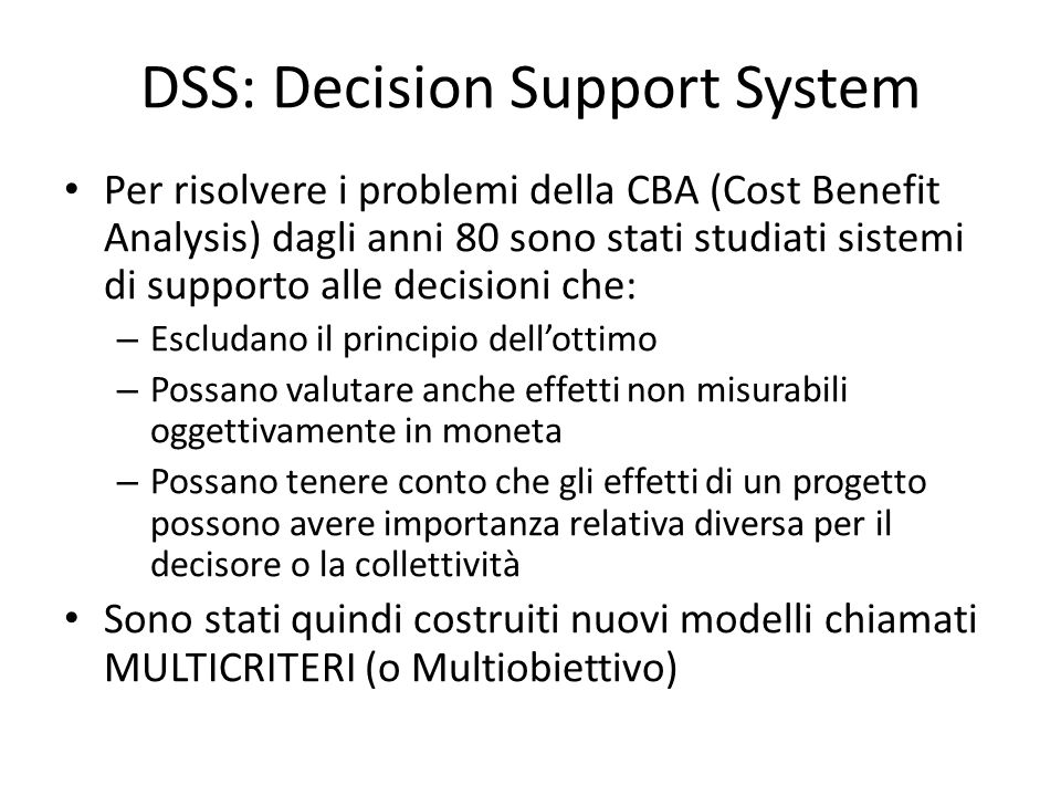DSS: Decision Support System