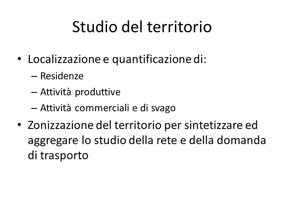 Studio del territorio Localizzazione e quantificazione di: