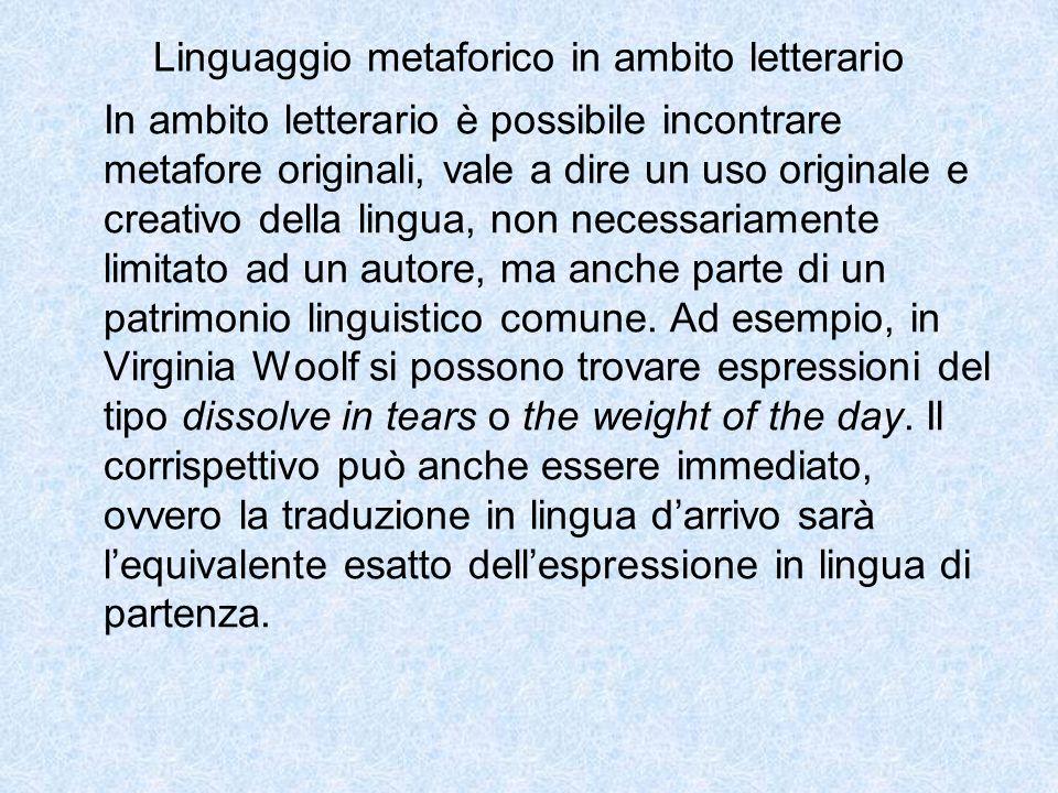 Linguaggio metaforico in ambito letterario