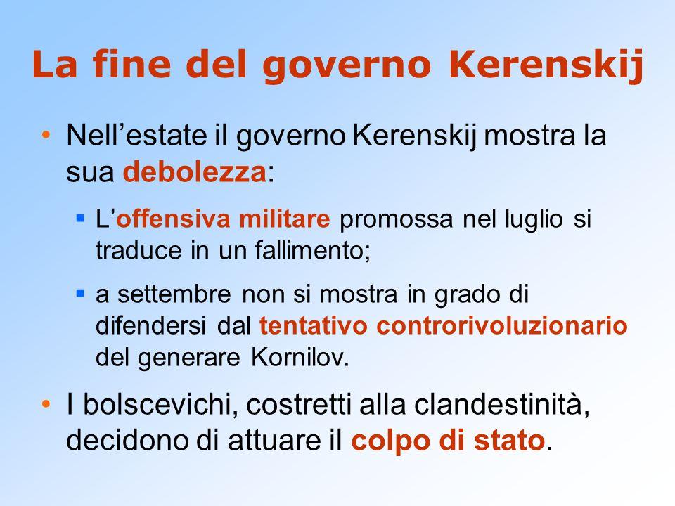 La fine del governo Kerenskij