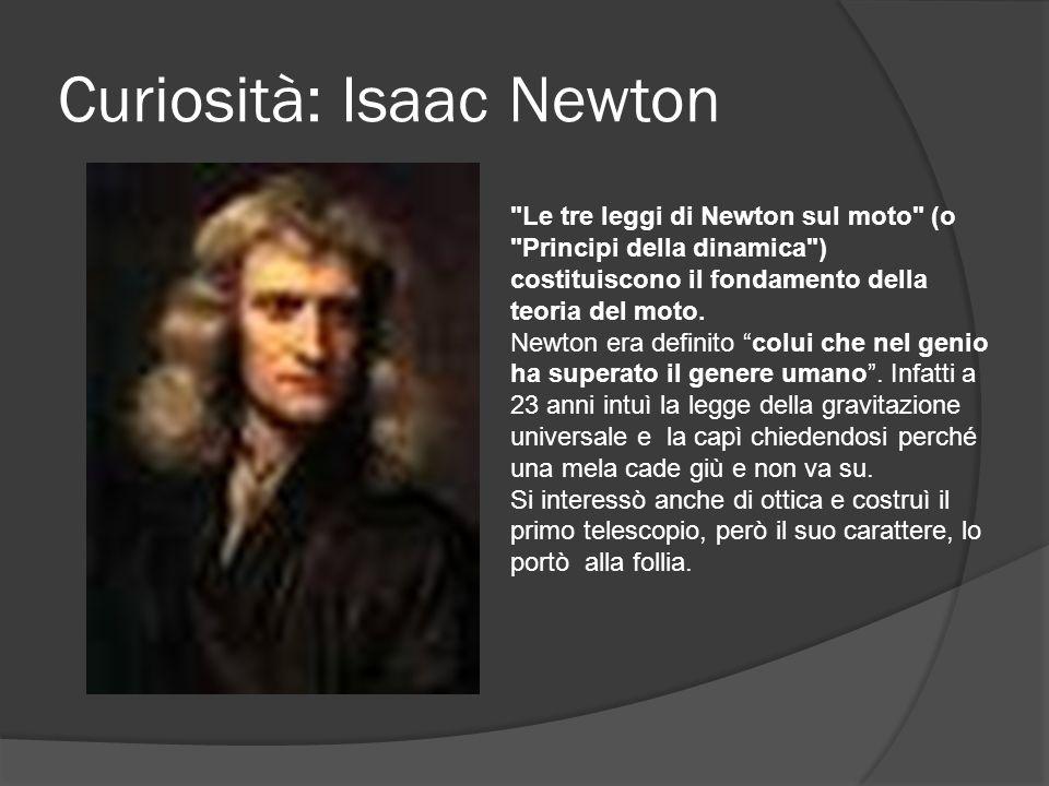 Curiosità: Isaac Newton