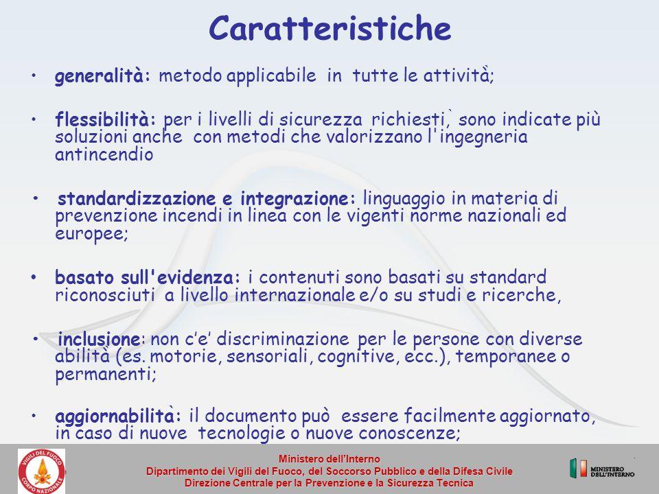 Caratteristiche generalità: metodo applicabile in tutte le attività̀;