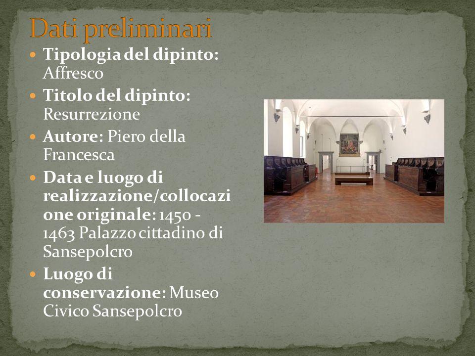 Dati preliminari Tipologia del dipinto: Affresco