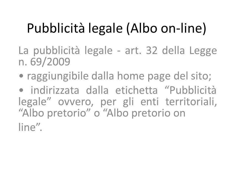 Pubblicità legale (Albo on-line)
