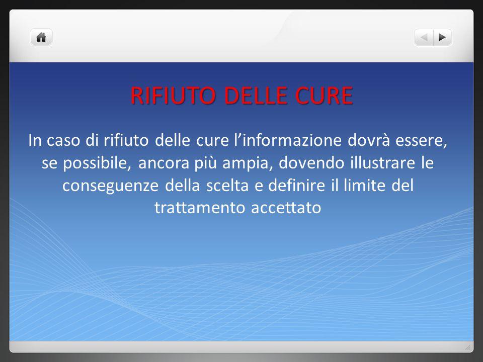 RIFIUTO DELLE CURE