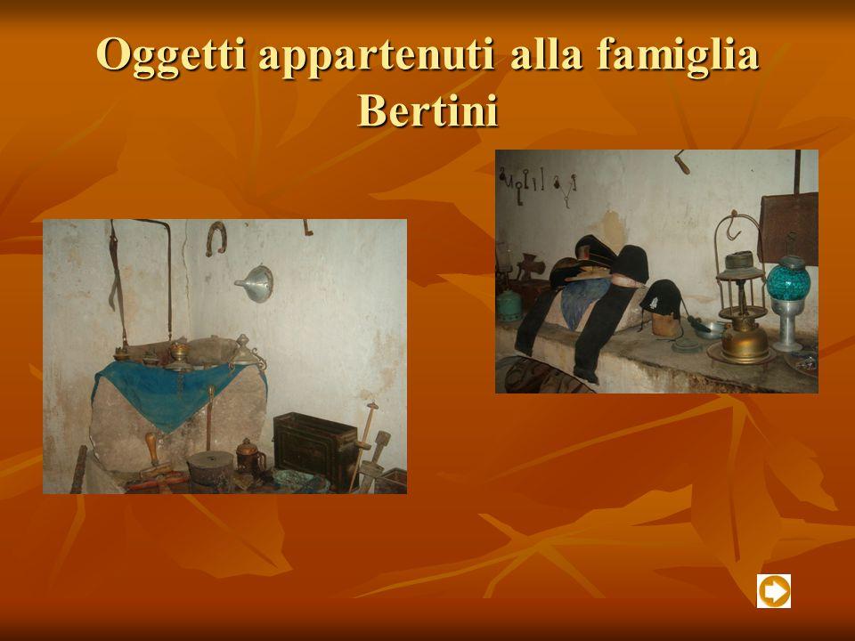 Oggetti appartenuti alla famiglia Bertini