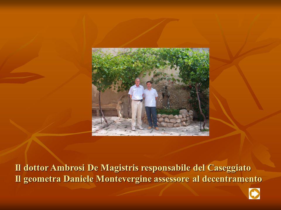 Il dottor Ambrosi De Magistris responsabile del Caseggiato