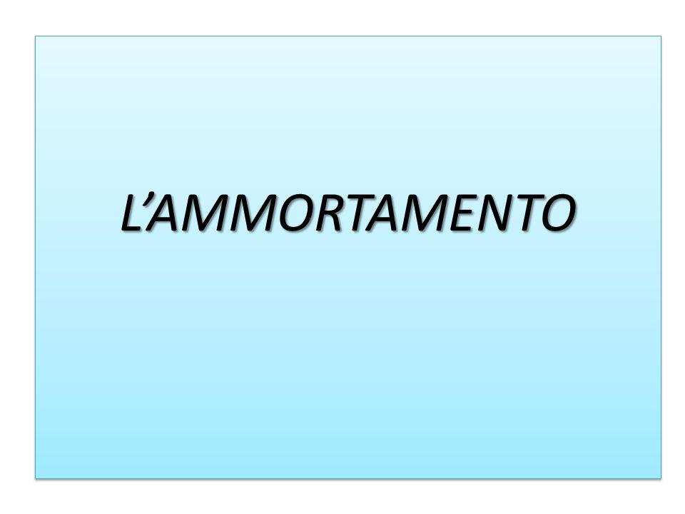 L'AMMORTAMENTO