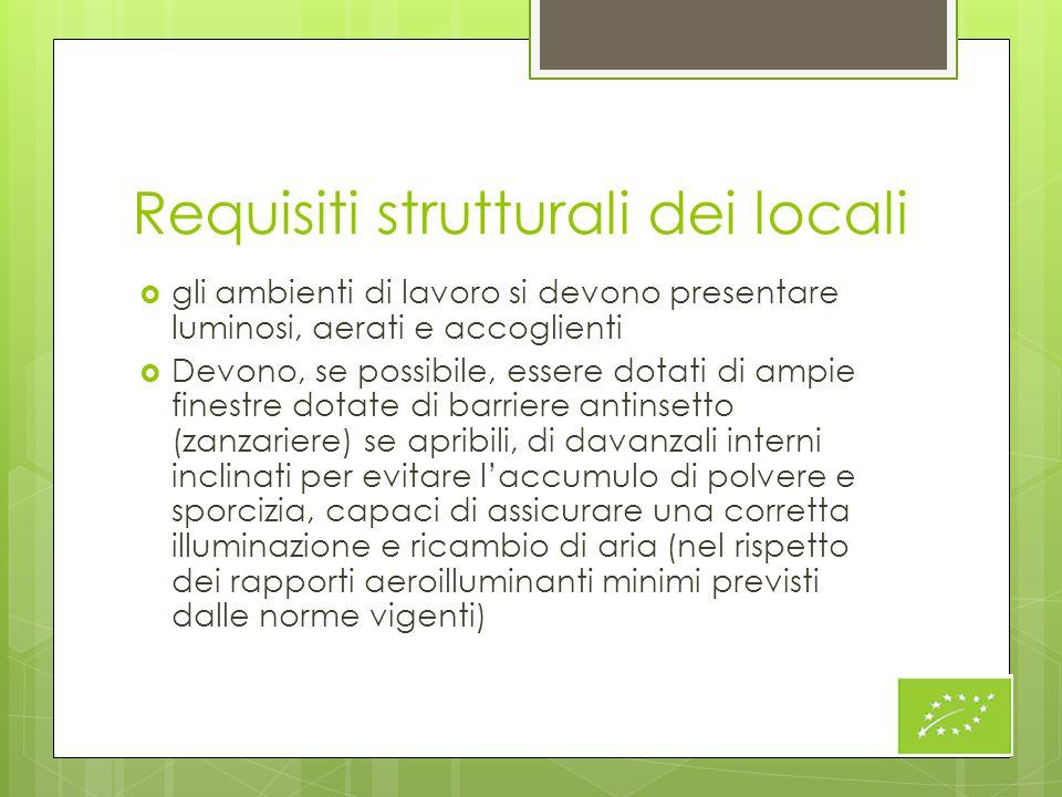 Requisiti strutturali dei locali
