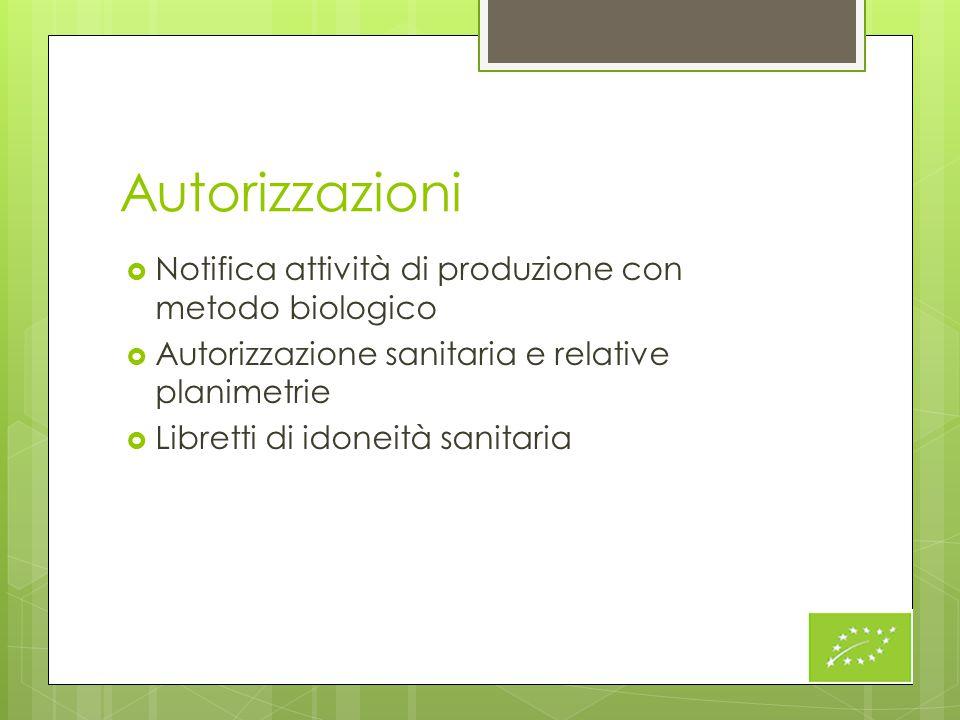 Autorizzazioni Notifica attività di produzione con metodo biologico