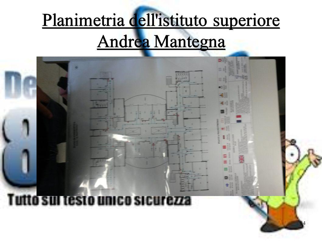Planimetria dell istituto superiore Andrea Mantegna