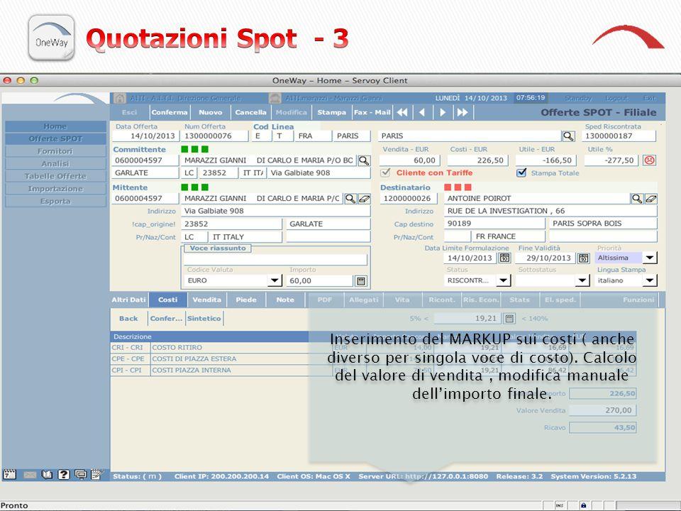 Quotazioni Spot - 3