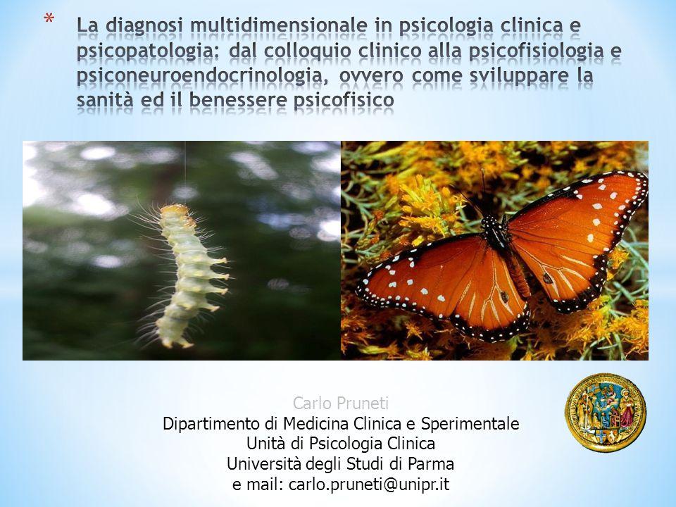 La diagnosi multidimensionale in psicologia clinica e psicopatologia: dal colloquio clinico alla psicofisiologia e psiconeuroendocrinologia, ovvero come sviluppare la sanità ed il benessere psicofisico