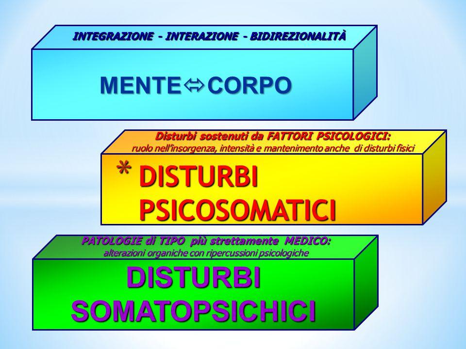 DISTURBI PSICOSOMATICI